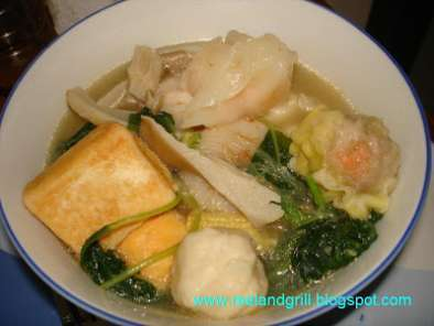 Recipe Seafood balls and veggies hotpot (steamboat)