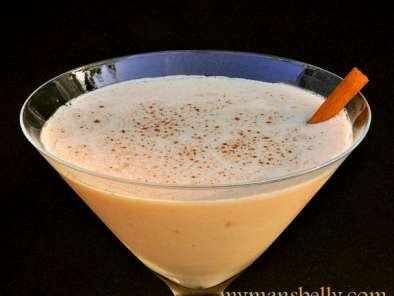 Recipe Infused bourbon and a peach bourbon martini