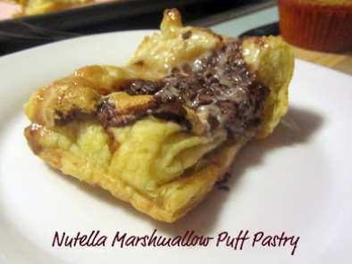 Recipe Nutella marshmallow puff pastry