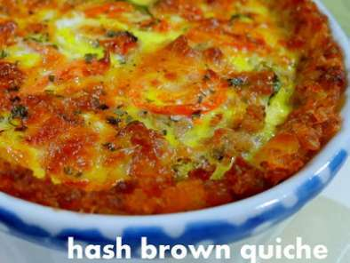 Recipe Hash brown quiche & apple pear crumble