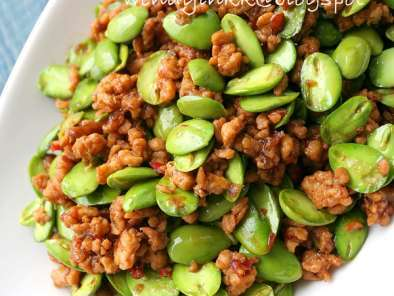 Recipe Petai with minced meat
