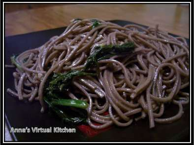 Recipe Spicy buckwheat noodles w/ spinach