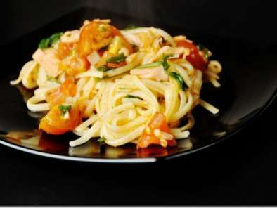 Recipe Linguine with smoked salmon