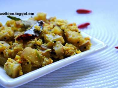 Recipe Vazhakka thoran / raw banana stir fry