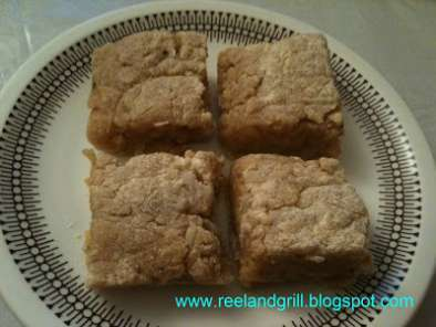 Recipe Espasol a la luz (sweet rice flour cake or pudding)