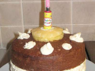 Recipe Pineapple, ginger and chocolate birthday cake