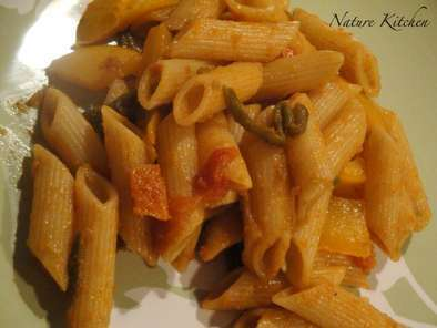 Recipe Indian style pasta in spicy tomato sauce