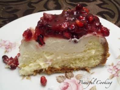 Recipe Pomegranate cheesecake and a willow house giveaway