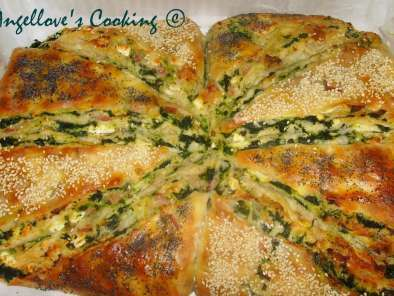 Recipe Bacon and spinach turkish bread (borek)