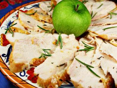 Recipe Oven roasted turkey breast with pan gravy