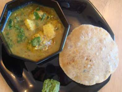Recipe Bedai with potato sabji