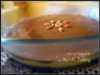 Recipe Nutella pudding...with creamy hazelnut spread and biscuits