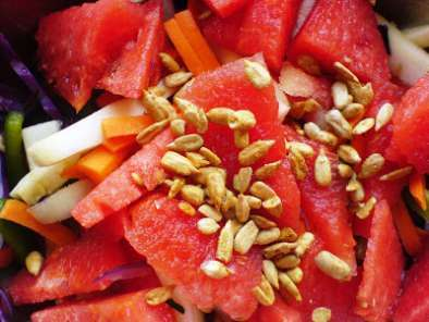 Recipe Watermelon, zuccini, carrot salad
