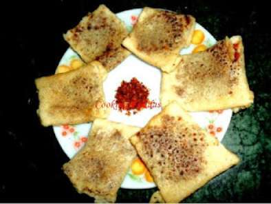 Recipe Chunchi patra pitha(needle-thin cake)