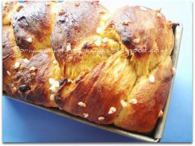 Recipe Dry fruits & orange brioche
