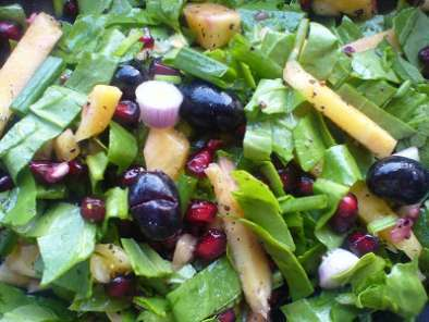 Recipe Zesty spinach salad