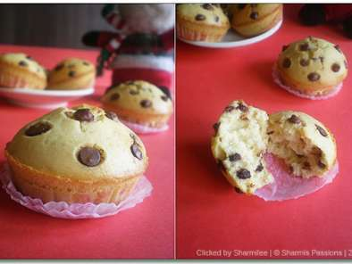 Recipe Eggless vanilla chocolate chips cupcakes