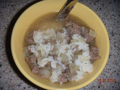 Recipe Elk italian sausage and rice soup