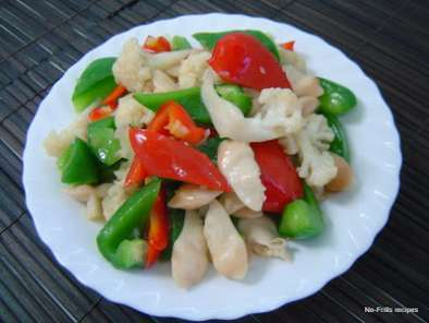 Recipe Stir-fry razor clams with mixed vegetables