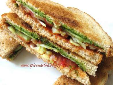 Recipe Indian version of vegetable/ vegan toast sandwich and an award