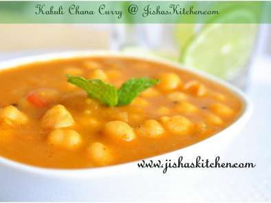 Recipe Kabuli chana curry / vella kadala curry