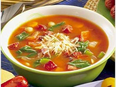 Recipe Low fat autumn vegetable minestone soup in the crock pot