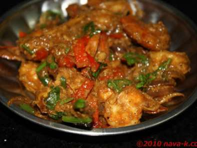 Recipe Spicy prawns with eggs (chinese style)