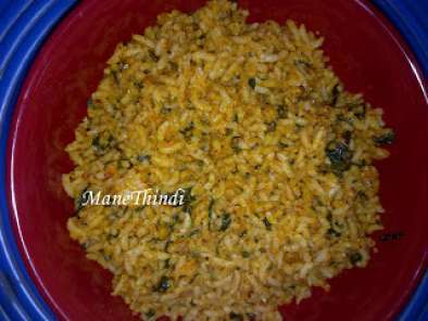 Recipe Menthya soppina bath(spicy methi rice)