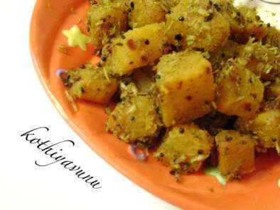 Recipe Mathanga thoran /upperi /pumpkin stir fry