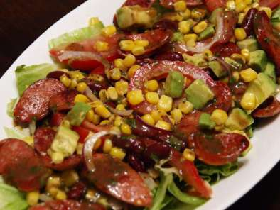 Recipe Chorizo, corn and kidney bean salad