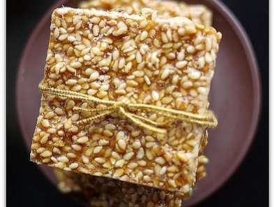 Recipe Crispy sesame brittle thins or til ki gajak