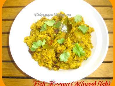 Recipe Fish keema(minced fish cooked with potatoes)