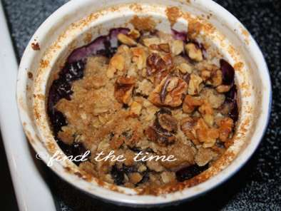 Recipe Blueberry-pear crisp (serves 2)