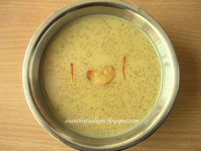 Recipe Arisi payasam / rice payasam for thai velli