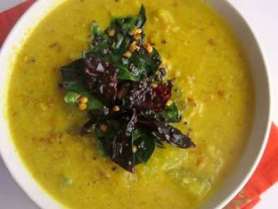 Recipe Kumbalanga cherupayar parippu curry~ash gourd and moong dal curry
