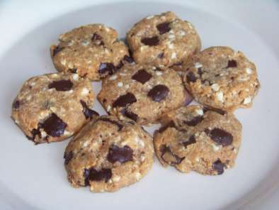 Recipe Flourless peanut butter chocolate chip cookies