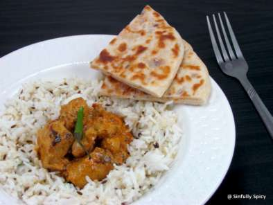 Recipe Chicken tikka masala, paneer-onion kulcha & cumin rice