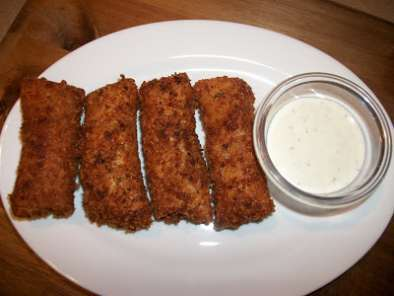 Recipe Egg roll wrapped salami mozzarella sticks