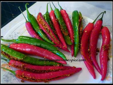 Recipe Fresh chilly pickle (marcha nu athanu)