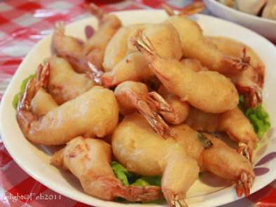 Recipe Crispy puffy prawns
