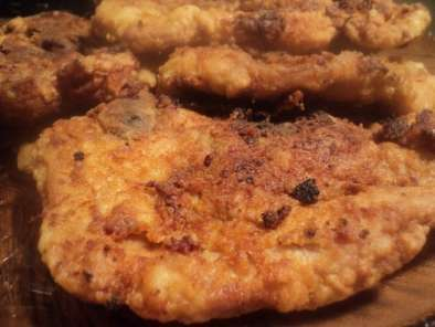 Recipe Mustard rubbed fried pork chops