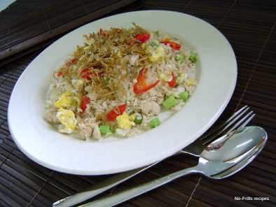 Recipe Fried rice with silver fish