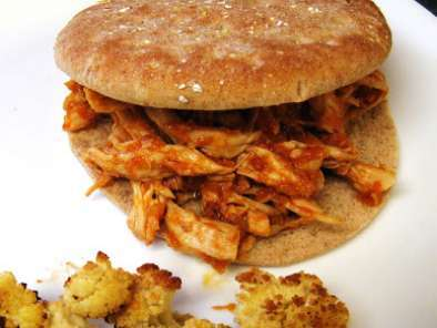 Pulled chicken sandwiches with dr. pepper barbecue sauce