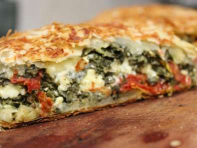 Recipe Spinach feta and sundried tomato strudel