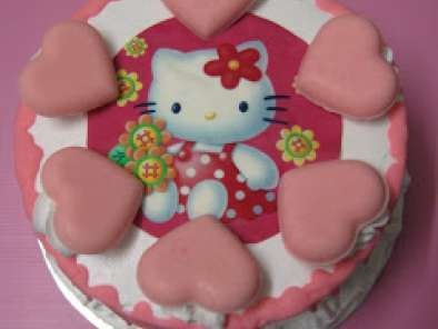 Recipe I love hello kitty (ice cream cake)