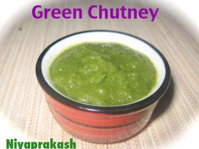 Recipe Green chutney ( for samosa, dhokla, khandvi, chutney sandwich .... )