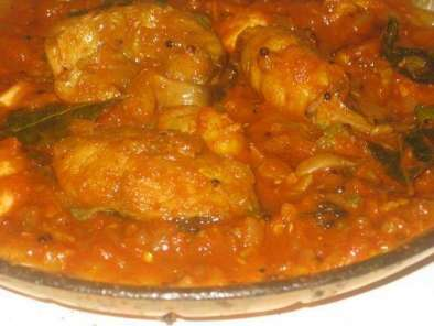 Traditional kerala style fish curry