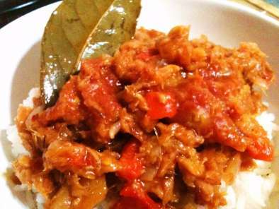 Recipe Bacalhau (dried cod fish) con olive oil and tomato