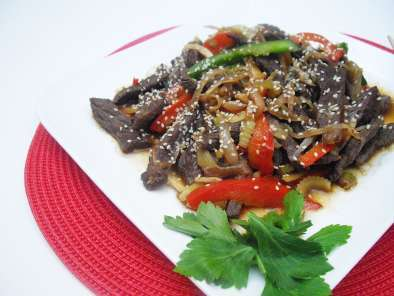 Recipe Sesame ginger beef stir fry