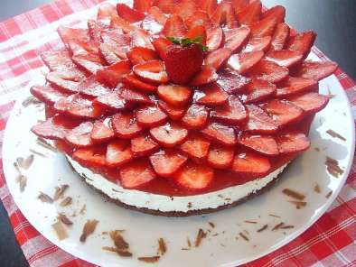 Recipe Chocolate - strawberry mascarpone cake